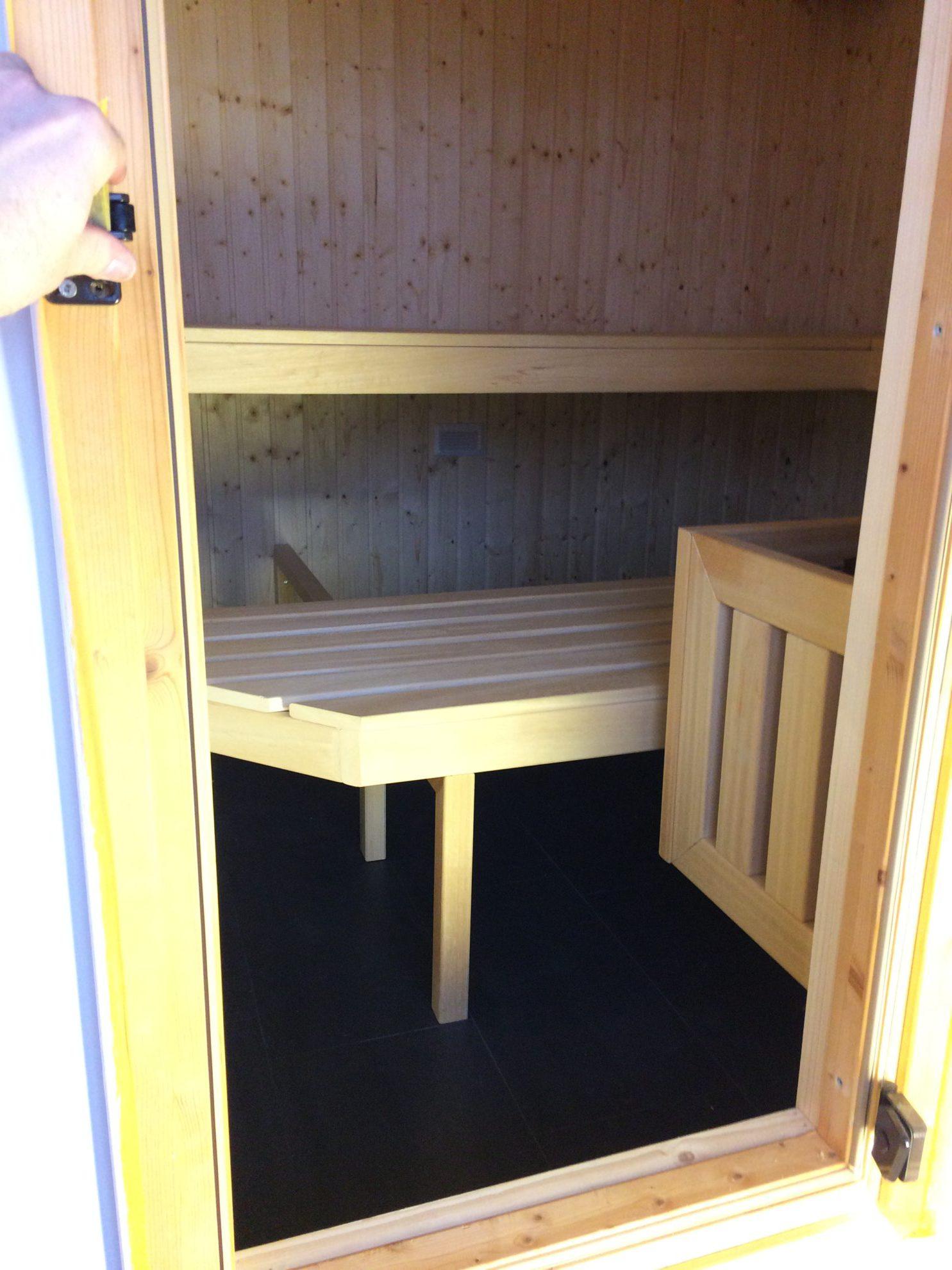 Bau einer Sauna